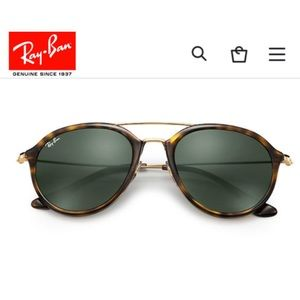 a89cd10e32b4b Ray-Ban Accessories - RAY BAN- RB4253 Tortoise Green Lens Sunglasses 😎